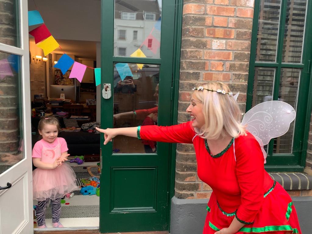 Christmas Fairy Doorstep Visit for Kids