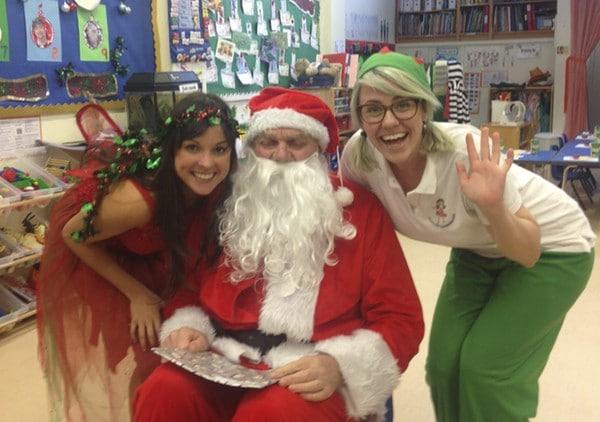 Santa, Fairy and Elves